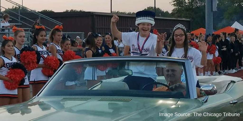 Students with Down Syndrome Elected Homecoming King and Queen