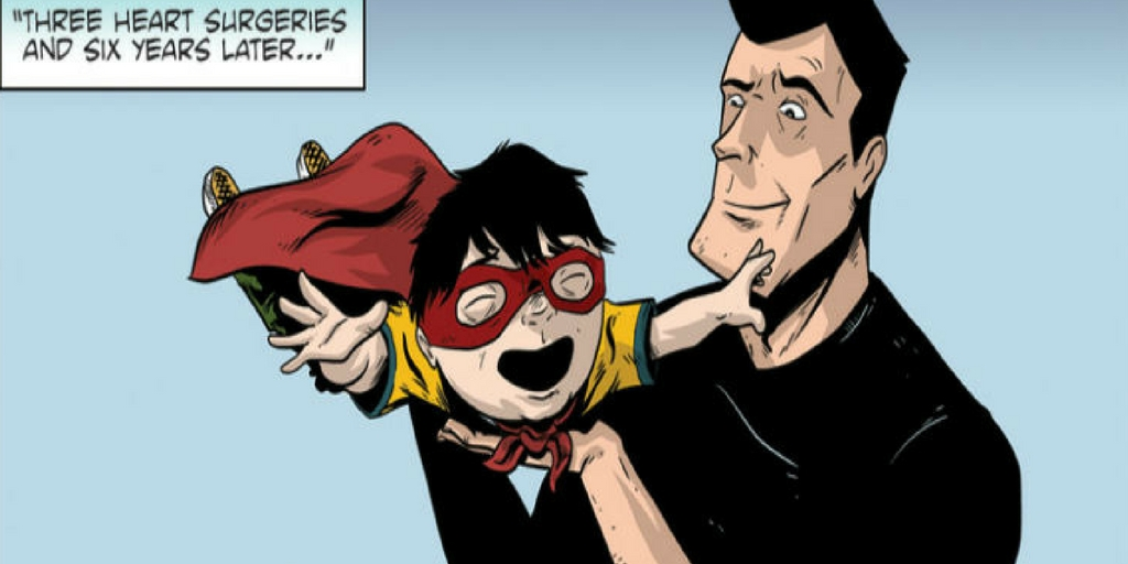 Dad creates comic book character with Down syndrome