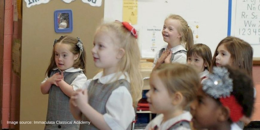 Classical school in Kentucky empowers kids with Down syndrome