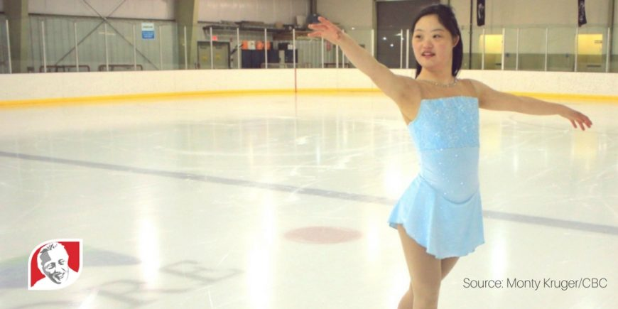 Canadian girl with Down syndrome pursues her figure skating dream