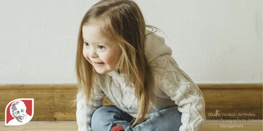 Adorable toddler with Down syndrome starts her modeling career