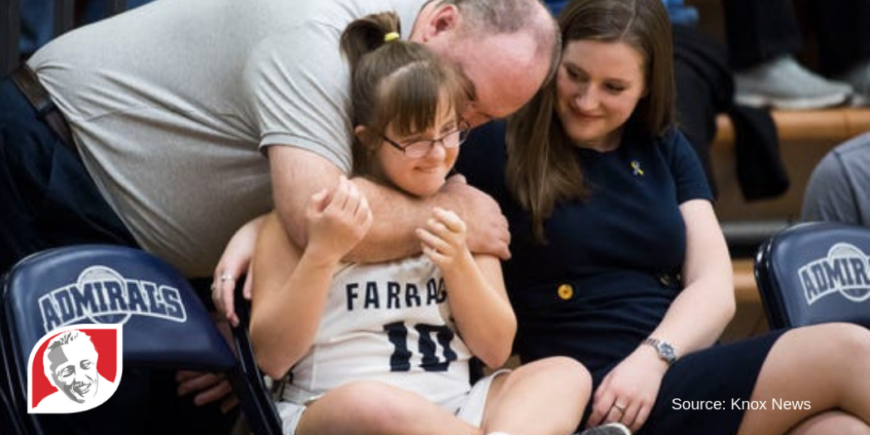 High school girl with Down syndrome a Farragut basketball star