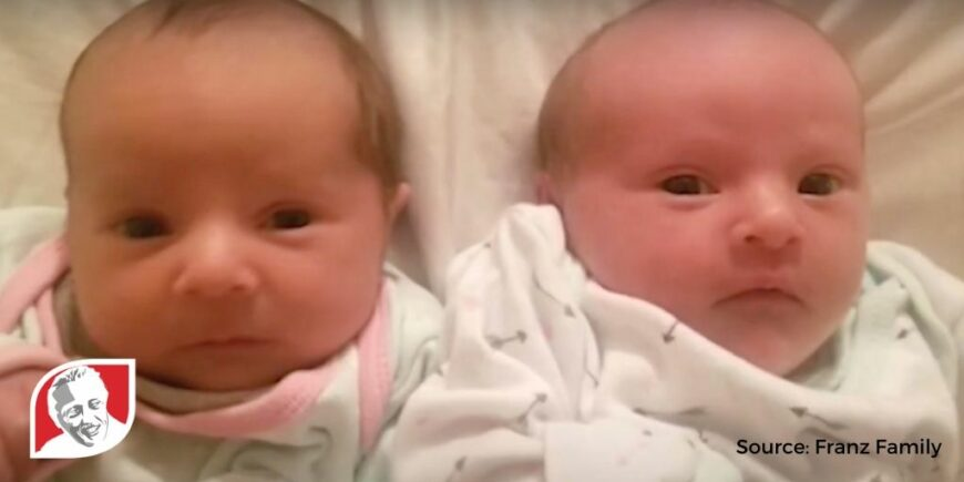 Josie and Jaclyn Franz: the twin sisters with and without Down syndrome