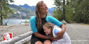 Girl with Down syndrome swims across Kootenay Lake